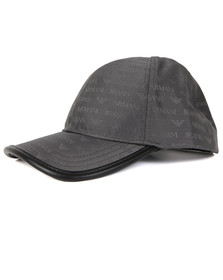 Armani Jeans Mens Grey Allover Logo Cap