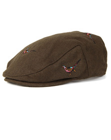 Barbour Lifestyle Mens Green Pheasant Flat Cap