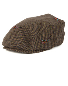 Barbour Lifestyle Mens Brown Pheasant Flat Cap