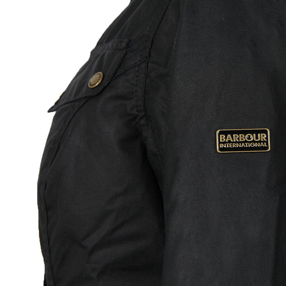 Barbour International Womens Blue Caster Wax Jacket main image