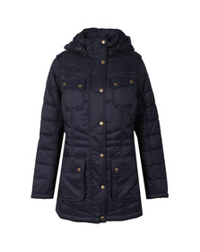 Barbour International Womens Blue Circlip Quilted Jacket