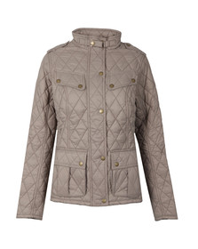 Barbour International Womens Beige Caster Quilted Jacket