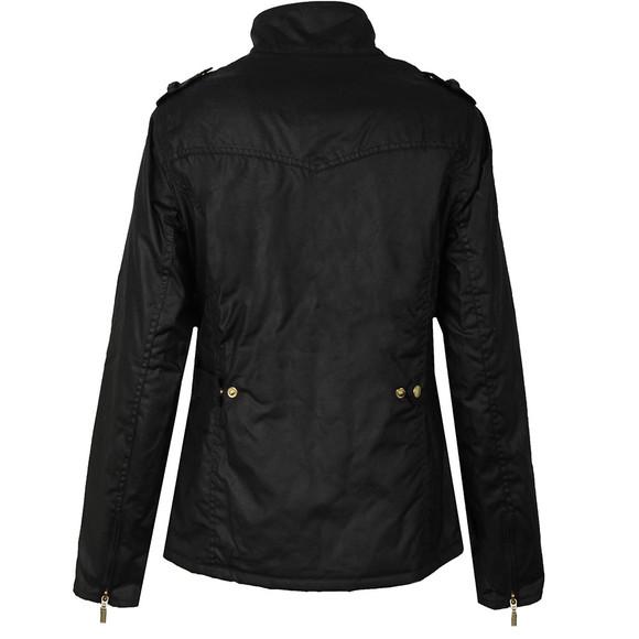 Barbour International Womens Black Fins Wax Jacket main image
