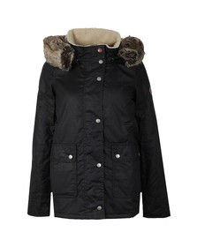 Barbour Lifestyle Womens Blue Crevasse Wax Jacket