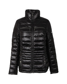 Barbour International Womens Black Camber Baffle Quilted Jacket