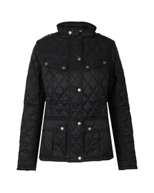Barbour International Womens Black Caster Quilted Jacket