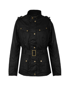 Barbour International Womens Black Goldwing Wax Jacket
