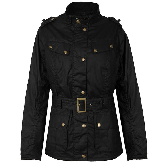 Barbour International Womens Black Goldwing Wax Jacket main image