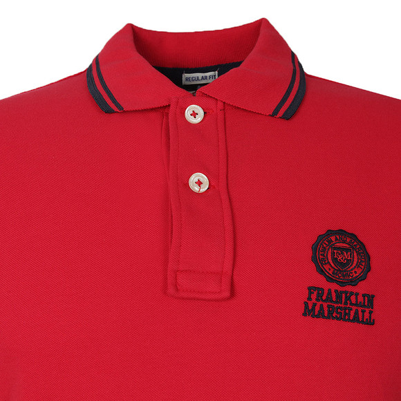 Franklin & Marshall Mens Red Multi Tipped Polo main image
