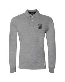 Franklin & Marshall Mens Grey Embroidered Logo Polo Shirt