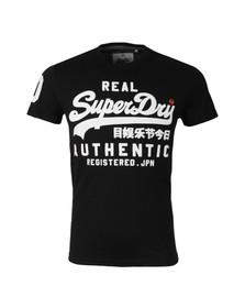 Superdry Mens Black Authentic Duo Tee
