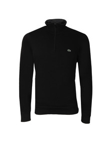 Lacoste Mens Black 1/2 Zip Sweat
