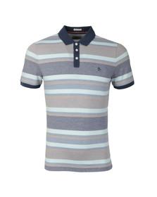 Original Penguin Mens Blue Birdseye Stripe Polo Shirt