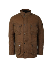 Barbour International Mens Brown Crank Wax Jacket