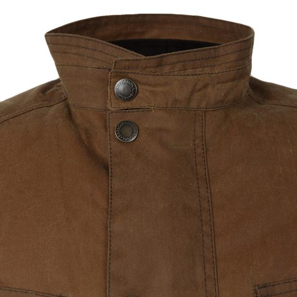 Barbour International Mens Brown Crank Wax Jacket main image
