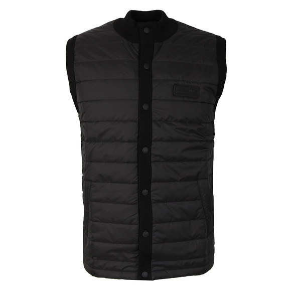 Barbour International Mens Black Baffle Gilet main image