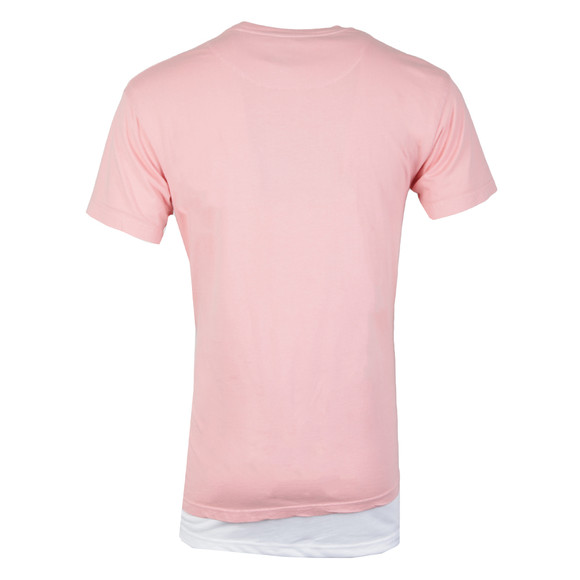 Illusive Mens Pink Double Layer Ripped T Shirt main image