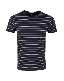 Scotch & Soda Mens Blue Striped T Shirt