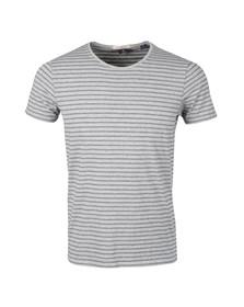 Scotch & Soda Mens Grey Striped T Shirt