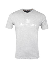 Aquascutum Mens Grey Griffin Crew Neck Logo Tee