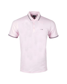 Armani Jeans Mens Pink Tipped Polo Shirt