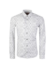 Hugo Mens Black Ero3 Patterned Shirt