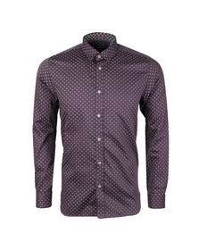 Ted Baker Mens Purple L/S Micro Geo Print Shirt