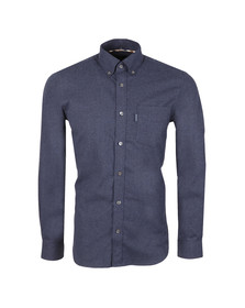 Aquascutum Mens Blue Luke Flannel Shirt