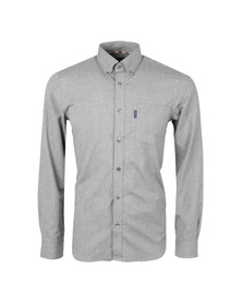 Aquascutum Mens Grey Luke Flannel Shirt