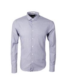 Scotch & Soda Mens Blue Patterned Dress Shirt