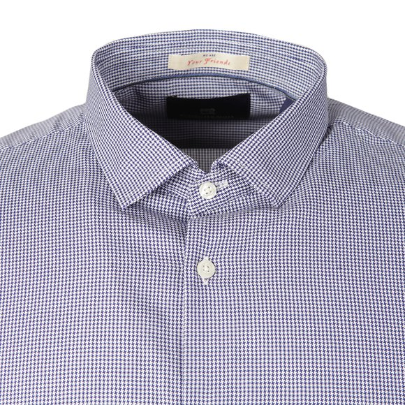 Scotch & Soda Mens Blue Patterned Dress Shirt main image