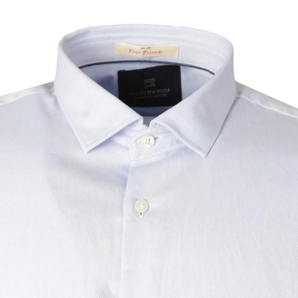Scotch & Soda Mens Blue Patterned Dress Shirt main image