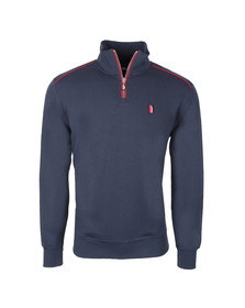 Ellesse Penguin Mens Blue Canazei 1/4 Zip Top