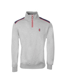 Ellesse Penguin Mens Grey Canazei 1/4 Zip Top