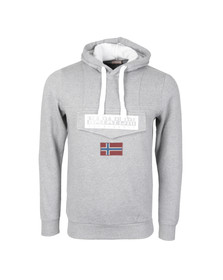 Napapijri Mens Grey Burgee Hooded Sweat