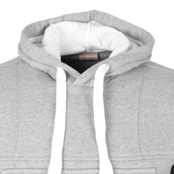 Napapijri Mens Grey Burgee Hooded Sweat main image