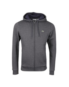 Lacoste Mens Grey SH9558 Full Zip Hooded Sweat