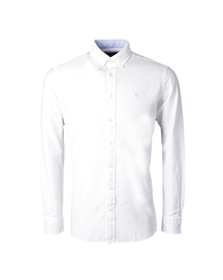 Hackett Mens White L/S Brompton Oxford Shirt