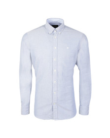 Hackett Mens Blue L/S Brompton Oxford Shirt