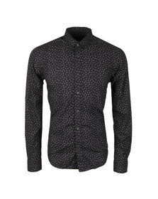 Scotch & Soda Mens Black All Over Printed Shirt
