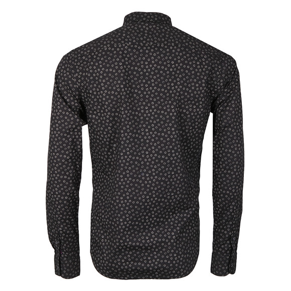 Scotch & Soda Mens Black All Over Printed Shirt main image