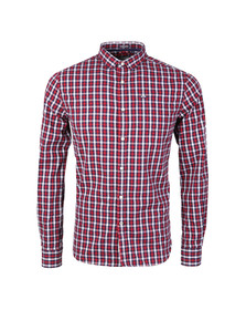 Superdry Mens Red L/S Tailored Oxford Shirt