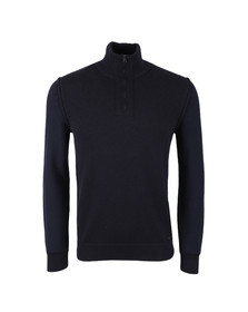 Boss Orange Mens Blue Kwemare Half Zip Knit