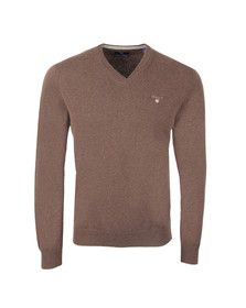 Gant Mens Brown V-Neck jumper