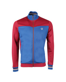 Fred Perry Bradley Wiggins Mens Red Contrast Panel Track Jacket