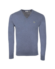 Lacoste Mens Grey AH3003 V Neck Wool Jumper