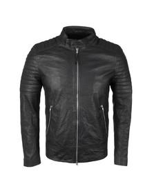 Religion Mens Black Dash Leather Jacket