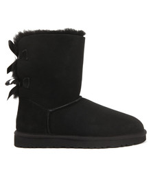 Ugg Womens Black Bailey Bow II Boot