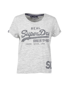 Superdry Womens Grey Vintage Logo Tee