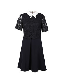 Ted Baker Womens Blue Dixxy Lace Bodice Double Layer Dress